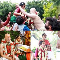 Dr L Subramaniam and #Angadi #patron Kavita Krishnamurthy's daughter Bindu Subramanium tied the knot with #Swarathma's violinist Sanjeev Nayak in an intimate ceremony on the outskirts of Bengaluru.The gregarious bride beamed in a #classic #green and #magenta #Kancheepuram sari, while the groom looked dashing in a panche with a #traditional #green and #maroon border. We wish them all the very best!! #happy #marriage #kavitakrishnamurthy