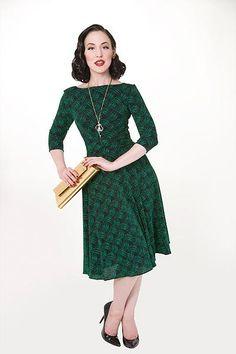 Dazzle Circle Dress, Grønn/sort