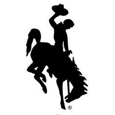 bucking horse and rider - wyoming