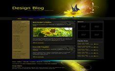Website Templates - Dark Floral CSS Template #css #templates #floral #websitetemplates