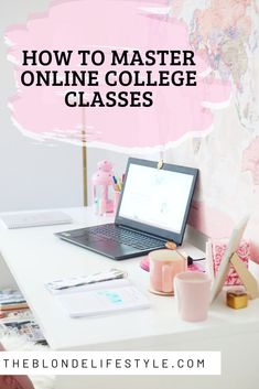 If you're starting online college classes for the first time, it can be pretty overwhelming. Here are some online school tips for how to be successful in college classes and how to master online college classes. Online College Classes, Online High School, College School Supplies, College Hacks, College Fun, Student Online, Life Hacks For School, School Study Tips, School Tips