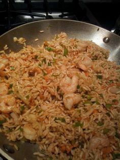 Shrimp fried rice Trini style Barbados, Indian Food Recipes, Asian Recipes, Caribbean Recipes, Caribbean Rice, Guyana Food, Trinidadian Recipes, Mauritian Food, Trini Food