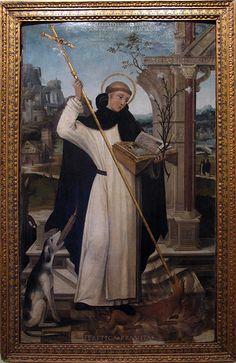 St Dominic smiting the devil.  GO DOMINIC!!