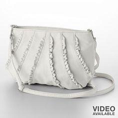 ruffly purse