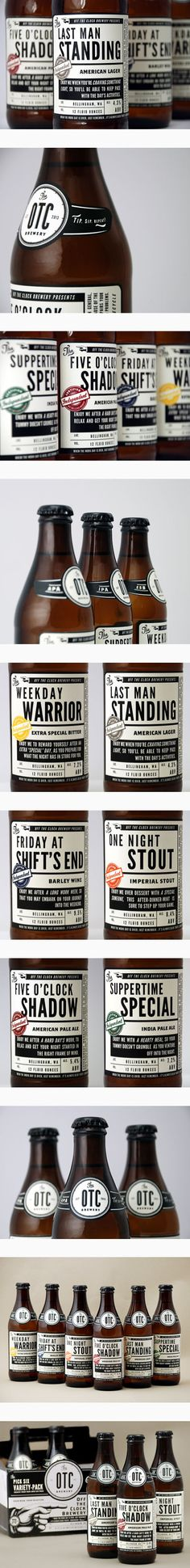 Beer label design   Off The Clock Brewing Company