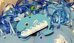 Whale Tags for Birthday Party Favors  - from CM Cricut Stork's Delivery