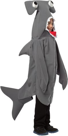 child's costume: hammerhead shark