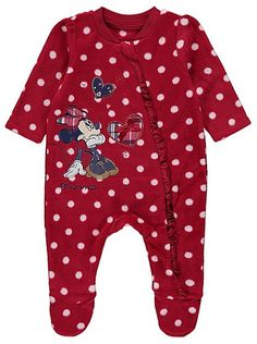 Disney Minnie Mouse Fleece Sleepsuit, read reviews and buy online at George at ASDA. Shop from our latest range in Baby. Your baby will drift off to a Disney...