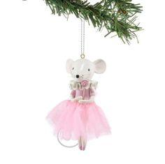 Amazon.com: Department 56 Nutcracker Suite Pink Ballet Mouse Ornament