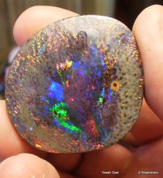Unique piece of  Opal mined by the Henderson Family of Yowah . Queensland , Australia