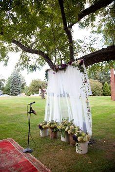 Outside Wedding Alter
