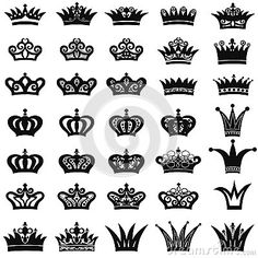 Illustration about Crown icon set. King and Queen symbol collection. Illustration of insignia, collection, coronation - 40231077 Queen Crown Tattoo, Crown Tattoos, Tatoos, Garter Tattoos, Rosary Tattoos, Bracelet Tattoos, Heart Tattoos, Mini Tattoos, Crown Pics