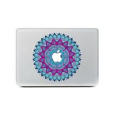 Stickers pour Mac Book Mode Mandala Turquoise 2015