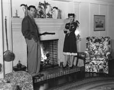 """In 1945, Fred MacMurray  and Lillian Lamont bought a house on Evanston Street in Brentwood Heights. A year later magazine writer Marva Shearer published a homey picture of the MacMurray living room, taken by Maynard Parker, L.A.'s star photographer. She wrote that Lily and Bud, as they were known to friends, stood for """"the great American dream -- the good each one of us expects success to bring him, better family living in a secure good home that is as unaffectedly livable as it is…"""