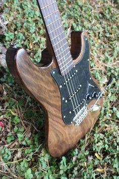 Custom Strat-style electric guitar. Dubova Custom Guitar.