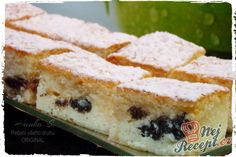 Křehký moučník s tvarohem, povidly a mákem Sponge Cake, Ale, French Toast, Sandwiches, Cheesecake, Food And Drink, Cooking Recipes, Sweets, Cookies