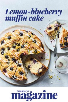 Have your cake and eat it with our healthier lemon-blueberry muffin cake recipe. Bursting with fruity flavour, you wouldn't believe this delicious cake has less than a tablespoon of sugar per serving. Perfect for some weekend baking or afternoon tea. Top Recipes, Fruit Recipes, Sweet Recipes, Baking Recipes, Cake Recipes, Muffin Cake Recipe, Blueberry Muffin Cake, Best Crockpot Chicken, Afternoon Tea Recipes