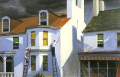 The Painterly Voice House Painters, House Art, People Art, American Art, New Art, The Voice, Buildings, Landscapes, Old Things
