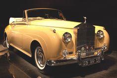 classy and classic, a yellow Rolls Royce Silver Cloud Bugatti, Lamborghini, Ferrari, Bmw, Audi, Porsche, Jaguar, Peugeot, Dream Cars