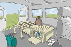 campingbox mit bett fuer ducato aufbauen as titel Suv Camping, Camper Van Conversion Diy, Campervan, Van Life, Vans, Kids Rugs, Furniture, Home Decor, Material