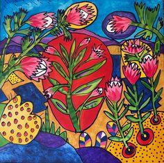 Proteas - Fynbos 2019 #PieterCronjeArt #Proteas #Fynbos Fun Travel, Paintings, Watercolor, Art, Pen And Wash, Art Background, Watercolor Painting, Paint, Painting Art