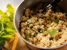 Get this all-star, easy-to-follow Couscous With Pine Nuts and Mint recipe from Ina Garten