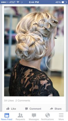 Braid with a braided bun.