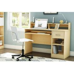 South Shore Smart Basics Small Desk, Multiple Finishes