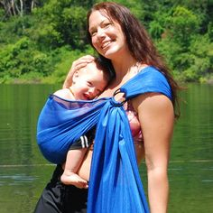 Baby Carrier Ring Sling Water Mesh Sapphire Blue Water by BabyEtte, $48.....I want this for the beach....hmmm...