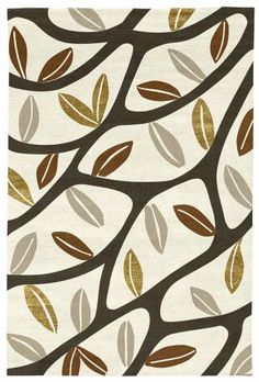 Judy Ross Hand-Knotted Custom Wool Branches Rug cream/fig/russet/oyster/gold silk