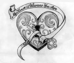 Heart locket tattoo - would have my kids names
