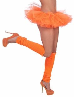Neon Orange Tutu Yesss orange leg warmers and ballet shoes Totally