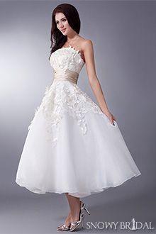 Tea Length Wedding Dresses - W0702