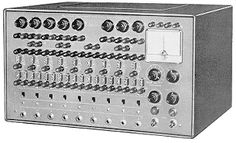The HeathKit EC-1 Analog Computer. One of the very first educational computers made, circa 1965. You had no monitor, no keyboard, no way to save your data, but it was a powerful computer in 1965, and the first educational analog computer.