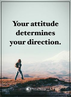 Attitude Quotes your attitude determines your direction Positive Attitude Quotes, Positivity, Sayings, Movies, Movie Posters, Inspiration, Image, Mindset, Woods