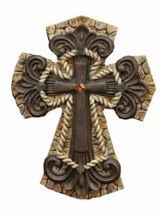 Western Home Decor Cross Statues [GC42 1008] by CD&G. $38.88. The Wall Cross is part of The Faith Collection. It has a smaller cross in the center with an orange colored stone in the center of this Home Decor Gifts. Western Home Decor Cross Statues. 10 inches tall. Christian Cross is made of resin but appears to be made of stones, iron and rope. The Western Home Decor Cross Statues is 10 inches tall. This Decorative Christian Cross is made of resin but appears to be made of ...
