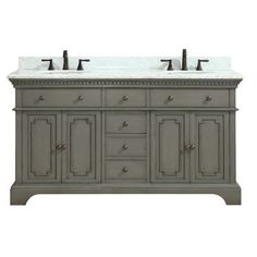 "Azzuri Hastings 61"" Double Bathroom Vanity Set Base Finish: French"
