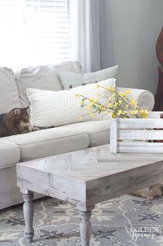 cozy rustic spring living room