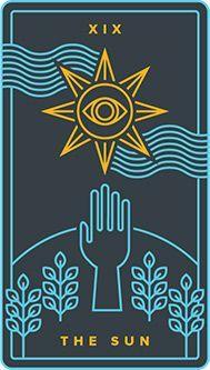 The Sun card from the Dark Exact Tarot Deck Major Arcana Cards, Tarot Major Arcana, O Sol Tarot, Golden Thread Tarot, The Sun Tarot Card, Tarot Card Tattoo, Sun Illustration, Landscape Illustration, Illustrations