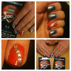 Okc thunder basketball inspired nail art design nail designs by okc thunder basketball inspired nail art design nail designs by me pinterest thunder basketball nails and fun nails prinsesfo Image collections