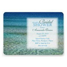 Beach theme bridal shower invitations #beach #bridalshower
