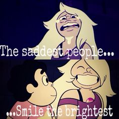the kindest people are the loneliest steven universe - Oh gosh after the recent Amethyst episode I thought of this quote and I am extremely satisfied that someone has already done this. Lapidot, Cool Cartoons, Cartoon Network, Favorite Tv Shows, Nerdy, Fangirl, Anime, Geek Stuff, Fandoms