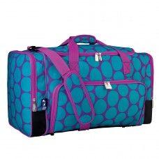 Duffle Bags> Non-Wheeled: Big Dot Aqua Weekender