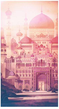 Prince of Persia: Stunning work by UK artist James Gilleard Islamic Wallpaper Hd, Wallpaper Backgrounds, Wallpapers, Bg Design, Graphic Design, 8bit Art, Apple Wallpaper Iphone, Apple Iphone, Prince Of Persia