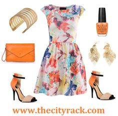 This stunning summer dress screams style and elegance. With a floral design, this dress is the ideal go-to outfit for any summer event. Match with a vibrant orange clutch and some statement heels and all eyes will be on you!