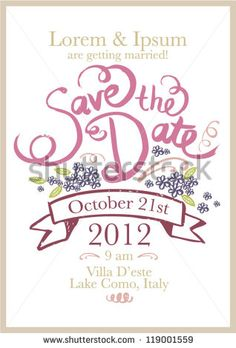 Save The Date Template VectorIllustration  Save The Date Ideias