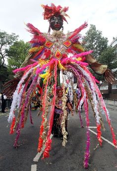 Scenes from last years' Notting Hill Carnival, London.