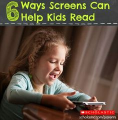 6 ways screen time can help kids read.