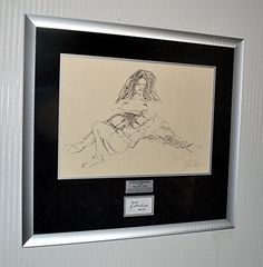cool John Lennon BAG ONE Art Erotica LITHOGRAPH, Signed YOKO ONO Autograph, Museum Frame, COA, UACC, Free U.S. SHIP!