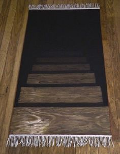 Faux stair steps rug - I want one of these!